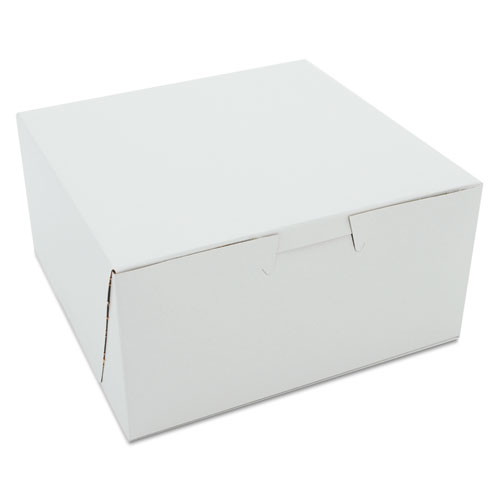 Non-Window Bakery Boxes, 6 x 6 x 3, White, 250/Carton