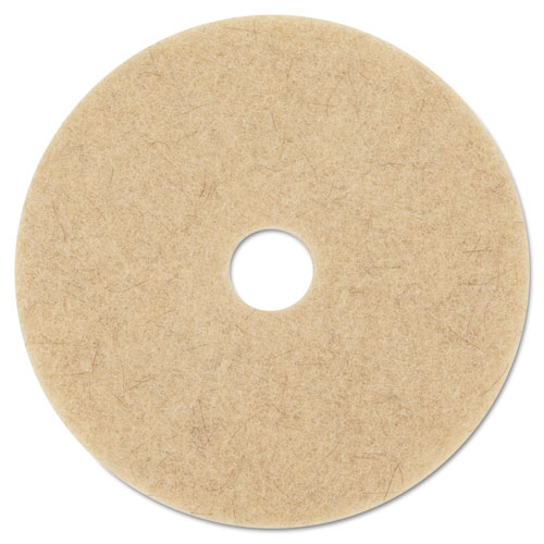 "3M Ultra High-Speed Natural Blend Floor Burnishing Pads 3500, 27"" Dia., Tan, 5/CT MMM20317"