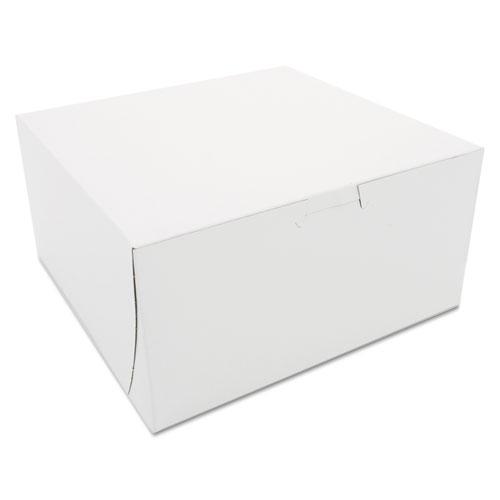 Non-Window Bakery Boxes, 8 x 8 x 4, White, 250/Carton