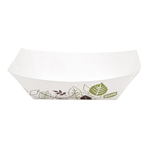 Kant Leek Polycoated Paper Food Tray, 3 3/4 x 1 2/5 x 5 3/10, Pathways, 1000/Ctn