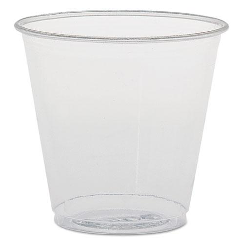 Plastic Sampling Cups, 3.5 oz, Clear, Polystyrene, 100/Bag, 25 Bags/Carton TK35