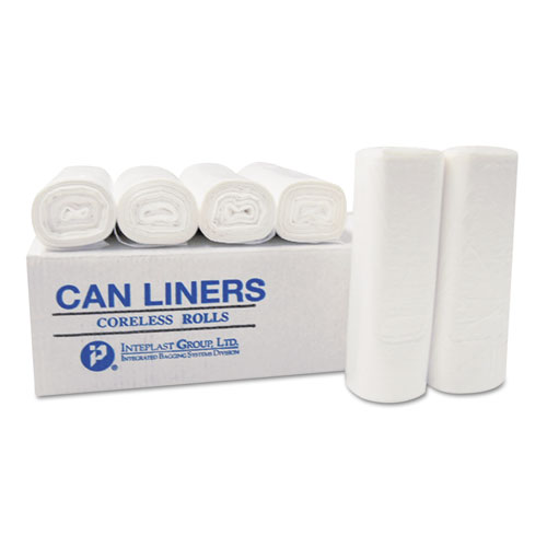High-Density Commercial Can Liners, 7 gal, 6 microns, 20 x 22, Clear, 2,000/Carton