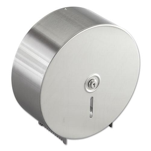 Jumbo Toilet Tissue Dispenser, Stainless Steel, 10 21/32 x 4 1/2 x 10 5/8