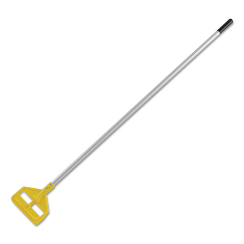 Invader Aluminum Side-Gate Wet-Mop Handle, 60, Gray/Yellow