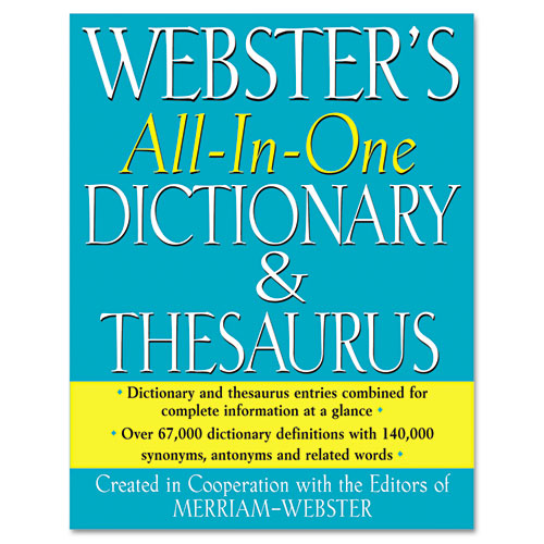 All-In-One Dictionary/Thesaurus, Hardcover, 768 Pages | by Plexsupply