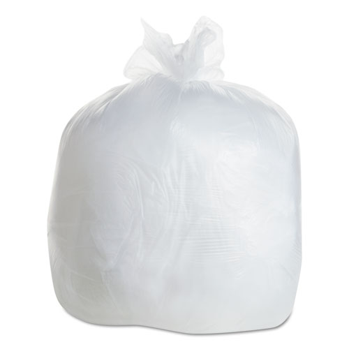 High Density Coreless Can Liners, 15 gal, 8 microns, 24 x 33, Clear, 1,000/Carton