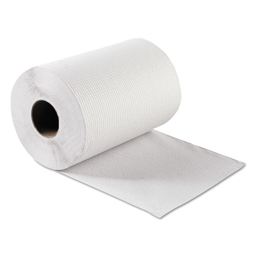 Hardwound Roll Towels, White, 8 x 300 ft, 12 Rolls/Carton