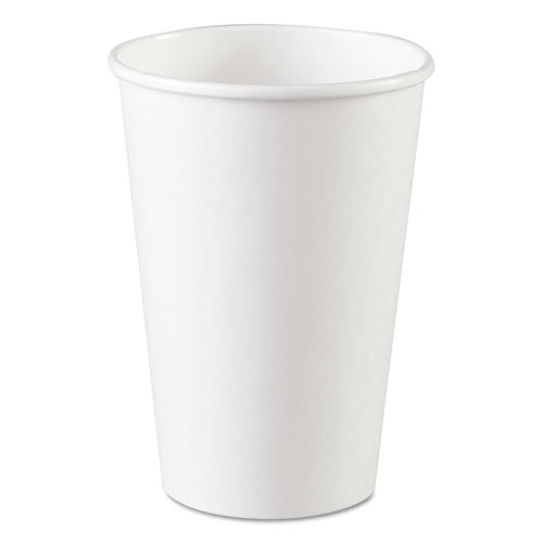 Paper Cups, Hot, 16 oz, White, 1000/Carton 2346W