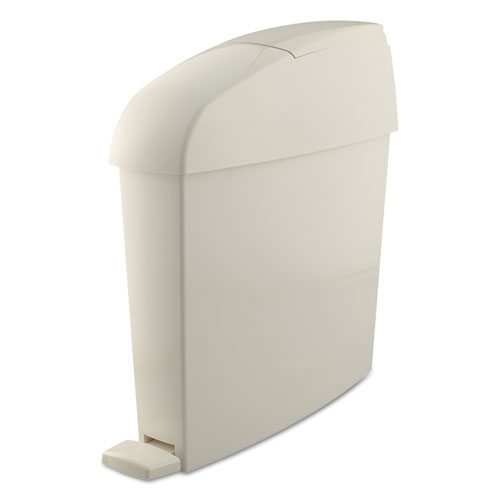 Rubbermaid® Commercial Sanitary Bin, Rectangular, Plastic, 3 gal, White