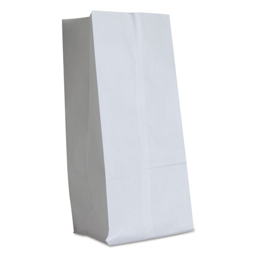 """Grocery Paper Bags, 40 lbs Capacity, #16, 7.75""""w x 4.81""""d x 16""""h, White, 500 Bags BAGGW16500"""