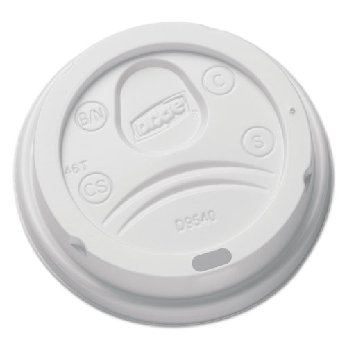 Sip-Through Dome Hot Drink Lids for 10 oz Cups, White, 100/Pack DL9540