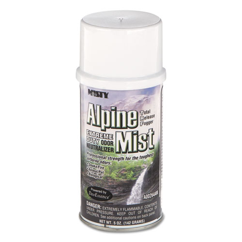 Misty® Odor Neutralizer Fogger, Alpine Mist, 5oz, Aerosol, 12/Carton