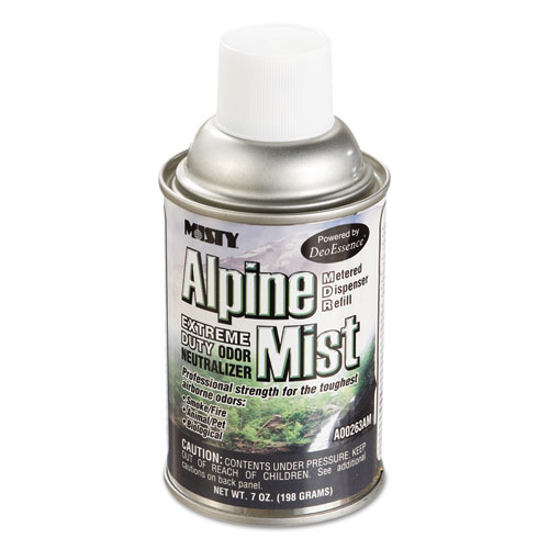Metered Odor Neutralizer Refills, Alpine Mist, 7 oz Aerosol, 12/Carton