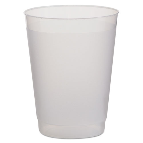 Frost Flex Cups, Cold, 10 oz, Plastic, Frosted/Translucent, 25/PK, 20 PK/CT PF10