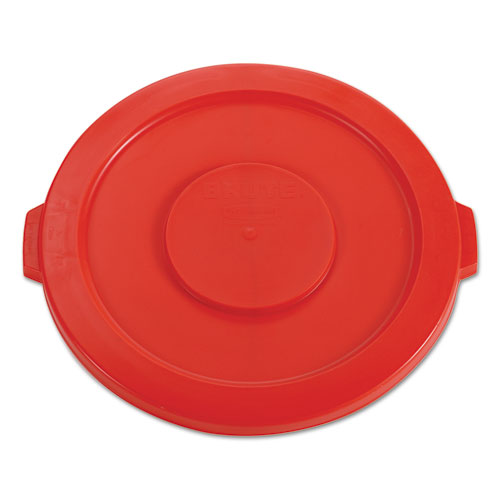 Round Flat Top Lid, for 32 gal Round BRUTE Containers, 22.25 diameter, Red