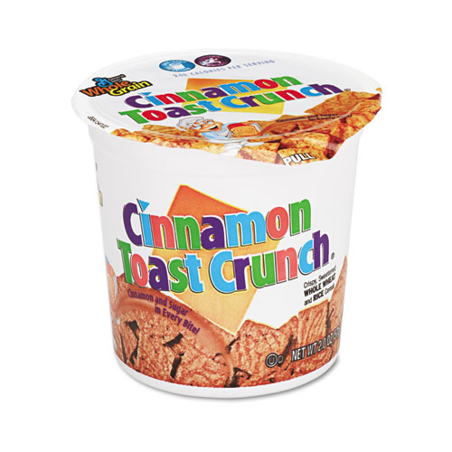 General Mills Cinnamon Toast Crunch Cereal, Single-Serve 2.0oz Cup, 6/Pack