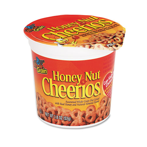 Honey Nut Cheerios Cereal, Single-Serve 1.8oz Cup, 6/Pack SN13898