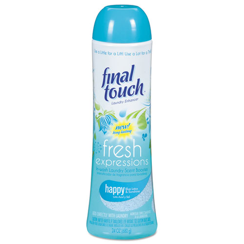 Final Touch® Fresh Expressions In-Wash Laundry Scent Booster, 24 oz, Powder, Blue Lotus