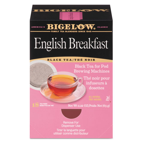 English Breakfast Tea Pods, 1.90 oz, 18/Box