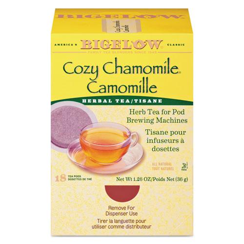 Cozy Chamomile Herbal Tea Pods, 1.90 oz, 18/Box