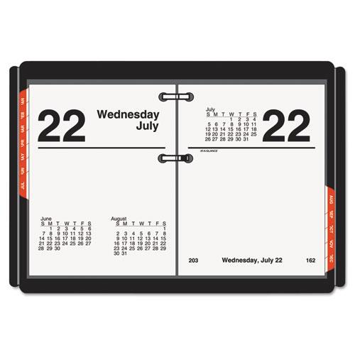 Compact Desk Calendar Refill, 3 x 3 3/4, White, 2019