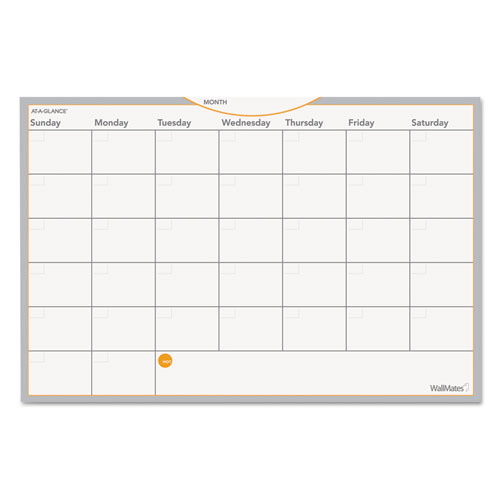 WallMates Self-Adhesive Dry Erase Monthly Planning Surface, 18 x 12 | by Plexsupply