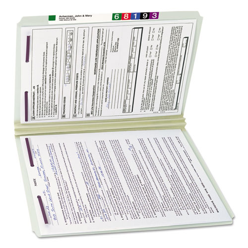 Two Inch Expansion Fastener Folder Straight Tab Legal