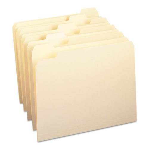 Manila File Folders, 1/5-Cut Tabs, Letter Size, 100/Box | by Plexsupply