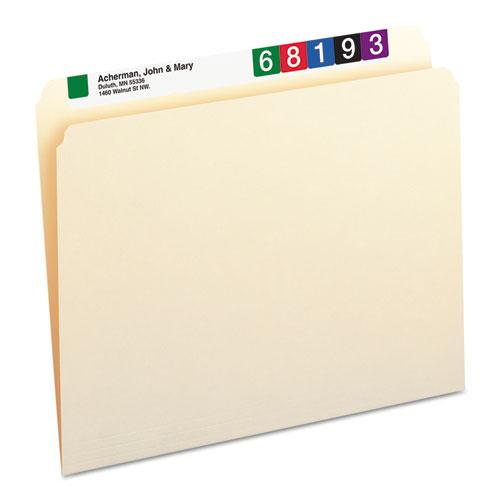 Manila File Folders, Straight Tab, Letter Size, 100/Box