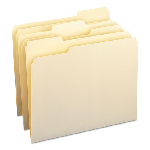 Manila File Folders, 1/3-Cut Tabs, Letter Size, 100/Box | by Plexsupply