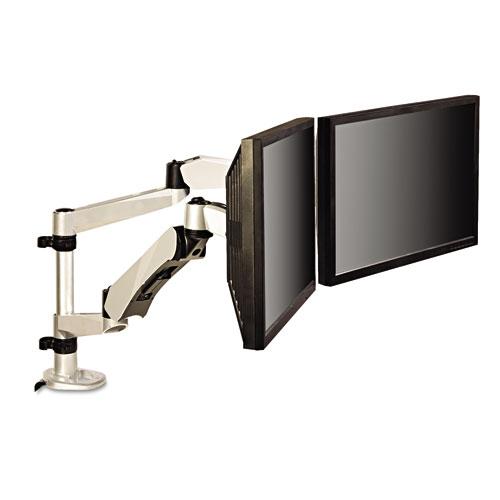 3M™ Single Monitor Arm Mount, 5 x 21 1/4, Silver