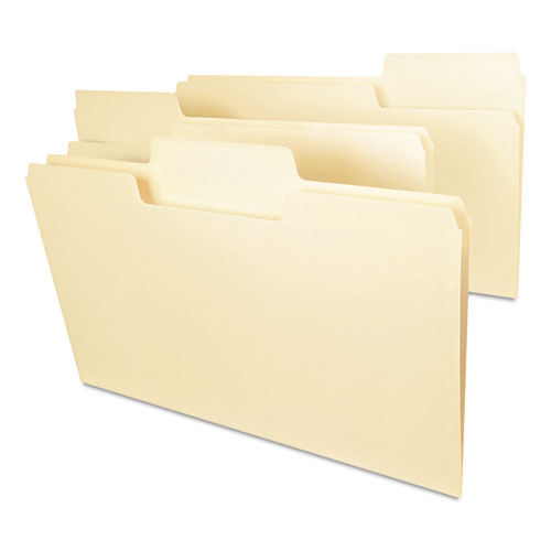 Smead® SuperTab Heavyweight Folder, Manila, 1/3 Cut, Legal, 50/BX