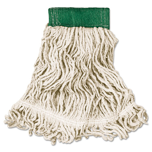 Rubbermaid Commercial Super Stitch Looped End Wet Mop Head Cotton Synthetic Medium Green White America S 1st Maintenance