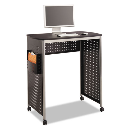 "Safco® Scoot Stand-Up Desk, 39.5"" x 23.25"" x 41.75"" to 42"", Black"