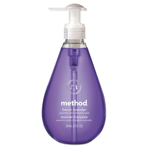 Method® Gel Hand Wash, French Lavender, 12 oz Pump Bottle, 6/Carton