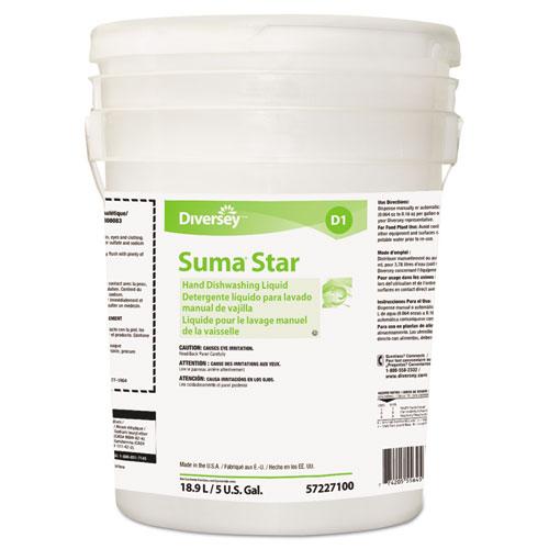 Suma Star D1 Hand Dishwashing Detergent, Unscented, 5 Gallon Pail
