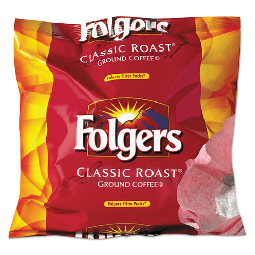 Folgers® Coffee Filter Packs, Regular, 0.9 oz Filter Pack, 40/Carton