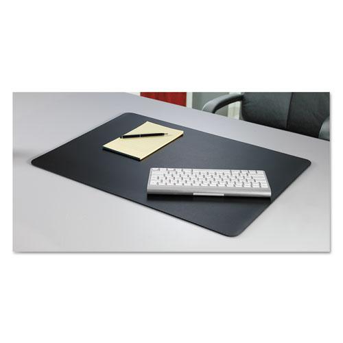 Rhinolin II Desk Pad with Antimicrobial Protection, 36 x 24, Black | by Plexsupply