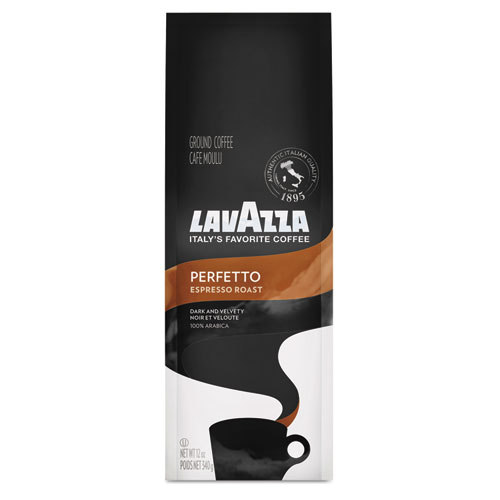 Lavazza Perfetto Ground Coffee, Espresso Roast, 12 oz Bag