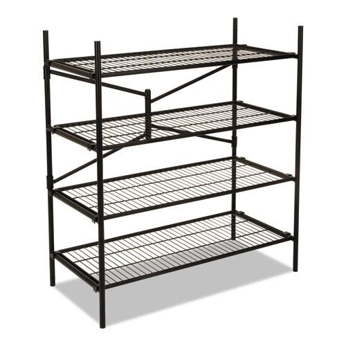 Instant Storage Shelving Unit, 4 Shelves, 42 3/4 x 20 3/4 x 47 3/4, Black 66714BLK1E