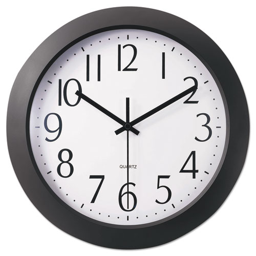 "Whisper Quiet Clock, 12"" Overall Diameter, Black Case, 1 AA (sold separately) 