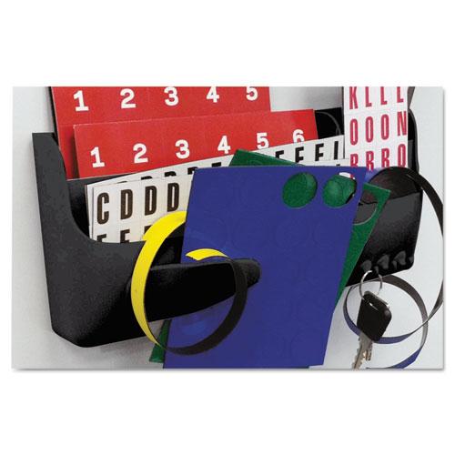 Magnetic SmartBox Organizer, 9 x 4, Black