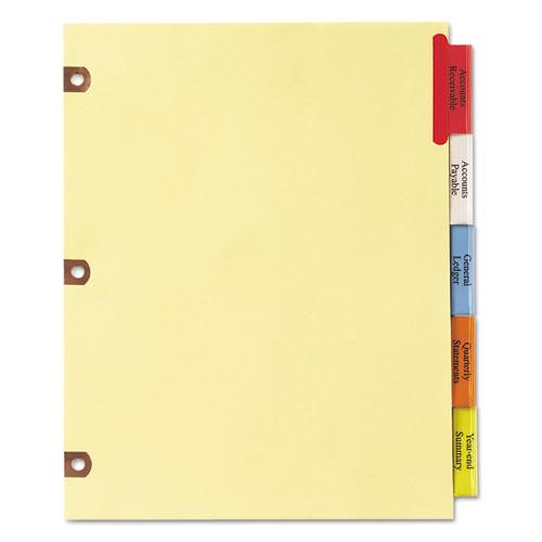 insertable big tab dividers 5 tab letter. Black Bedroom Furniture Sets. Home Design Ideas