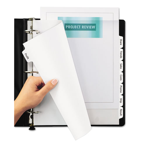 ave11441 avery print  u0026 apply clear label dividers w  white