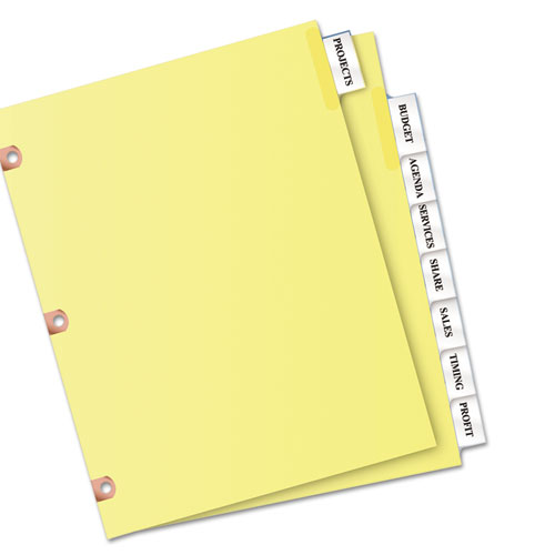avery big tab inserts for dividers 8 tab template - avery 23285 insertable big tab dividers 8 tab letter
