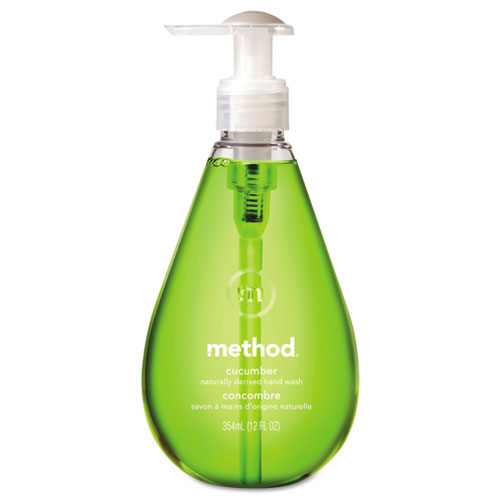 Method® Gel Hand Wash, Cucumber, 12 oz Pump Bottle