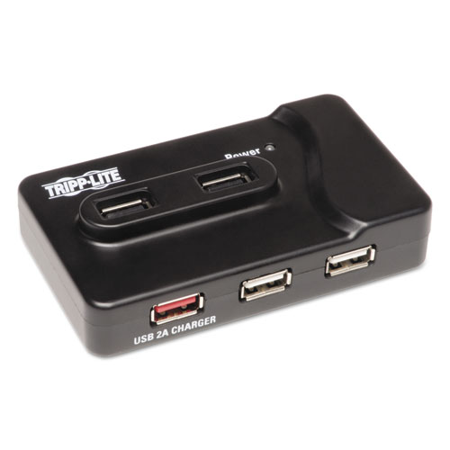 USB 3.0 SuperSpeed Charging Hub, 6 Ports, Black