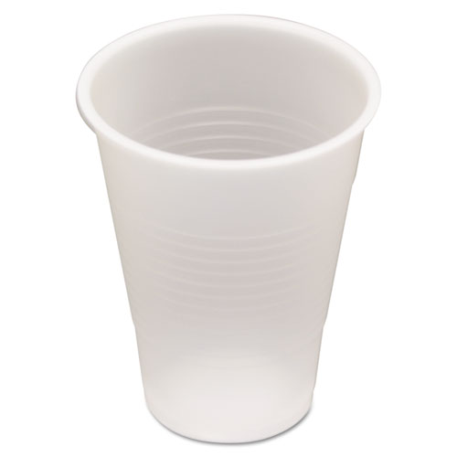 Pactiv Translucent Plastic Cups, 9 oz, Cold, 100 Sleeve, 25 Sleeves/Carton