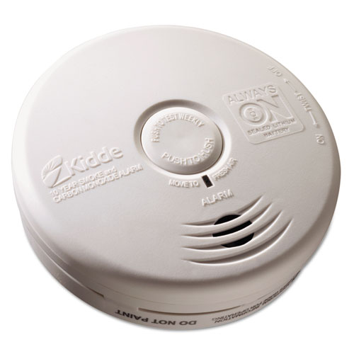 Kitchen Smoke/Carbon Monoxide Alarm, Lithium Battery, 5.22Dia x 1.6Depth