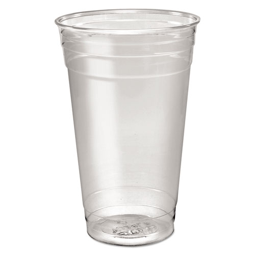 Ultra Clear PETE Cold Cups, 24 oz, Clear, 50/Sleeve, 12 Sleeves/Carton | by Plexsupply